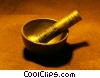 Stock photo  of a pestle and mortar