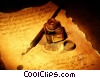 ink well and pen Stock photo