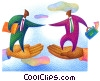 businessmen greeting Fine Art picture
