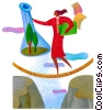 woman walking a tightrope Fine Art graphic