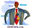 man with computer workers on his tie Fine Art illustration
