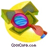 magnifying glass with dollar bills Fine Art illustration