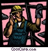 Fine Art graphic  of a man working