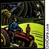 farmer on his tractor using satellite communications Fine Art picture