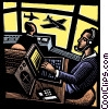 air traffic control tower Fine Art illustration