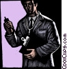Fine Art graphic  of a doctor with clipboard and