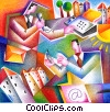 computer users Stock Art image