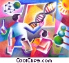 scientist working with DNA Fine Art illustration