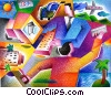 Fine Art graphic  of a Online shopping concept