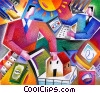 Online shopping concept Stock Art graphic