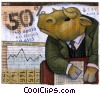 Investment and Stock Market Fine Art illustration