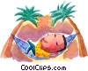 man laying in a hammock Fine Art picture