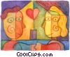 Fine Art graphic  of a Couples and Romance