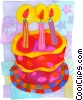 Stock Art picture  of a Birthday Cakes
