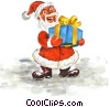 Stock Art graphic  of a Santa