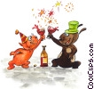 Party Celebrants Stock Art picture
