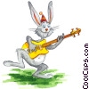 Stock Art graphic  of a Easter Bunny
