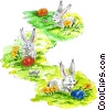 Fine Art illustration  of a Easter Bunny