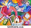 Online Transactions Stock Art graphic