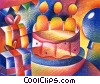 Stock Art graphic  of a Birthday Cakes