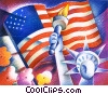 statue of liberty and American flag Fine Art picture