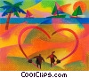 Fine Art graphic  of a Beach Scenes