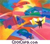 Infrastructure Roads and Highways Fine Art illustration