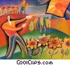 Fine Art illustration  of a Kite Flying