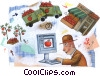 Stock Art graphic  of a Farmers