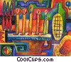 Fine Art graphic  of a menorah