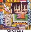 Menorahs Fine Art illustration