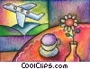 Fine Art graphic  of a Commercial Jets