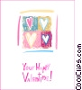 Stock Art graphic  of a Valentine Cards