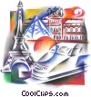Fine Art graphic  of a Paris