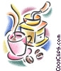 Fine Art graphic  of a coffee grinder and cup of