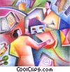 online transactions Fine Art illustration