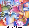 Stock Art graphic  of a online concepts