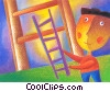 Stock Art image  of a climbing ladders
