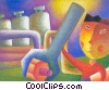Stock Art graphic  of a trades person working at a