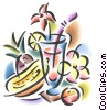 tropical fruit with refreshing drink Fine Art picture