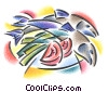 Fine Art graphic  of a fresh fish with tomatoes