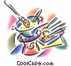 fondue pot with skewers Fine Art picture