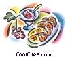 dessert pastries with fruit Fine Art picture