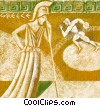 Greek warrior with sports figure Fine Art picture