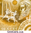 Fine Art graphic  of a Greek wrestling scene