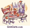 Stock Art picture  of a restaurant table setting