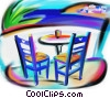 Stock Art graphic  of a table with chairs