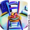 chair with fruit Fine Art picture