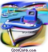 Stock Art graphic  of a Greek fishing boat