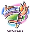 Stock Art graphic  of a Olympic Torch